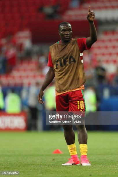 Vincent Aboubakar of Cameroon during the FIFA Confederations Cup Russia 2017 Group B match between Cameroon and Chile at Spartak Stadium on June 18...