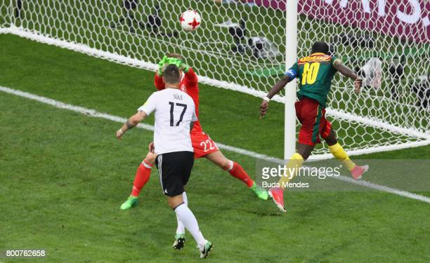 Vincent Aboubakar of Cameroon scores his sides first goal during the FIFA Confederations Cup Russia 2017 Group B match between Germany and Cameroon...