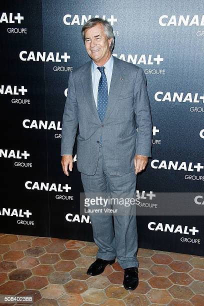 Vincent Bollore attends the 'Canal Animators' Party At Manko on February 3 2016 in Paris France