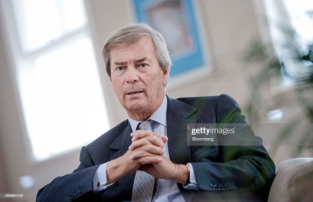 Vincent Bollore, billionaire and chairman of the Bollore Group, speaks during an interview at the Autolib' car-sharing headquarters in Vaucresson, France, on Monday, March 9, 2015. Bollore is targeting Los Angeles and Singapore as the next markets for his Autolib' electric-car sharing service after its debuts later this year in London and Indianapolis. Photographer: Marlene Awaad/Bloomberg via Getty Images