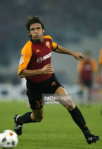 Vincent Candela of Roma on the ball during the UEFA Champions League First Phase Group C match between AS Roma and Real Madrid at the Stadio Olimpico...