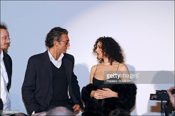 Vincent Cassel and Monica Bellucci in Paris France on March 29th 2004