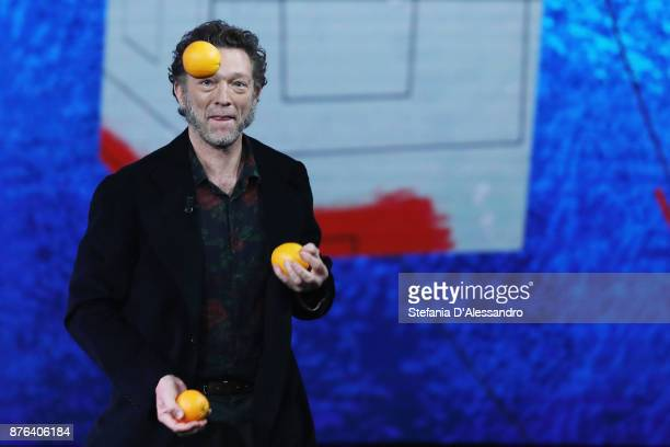 Vincent Cassel attends'Che Tempo Che Fa' Tv Show at Rai Milan Studios on November 19 2017 in Milan Italy