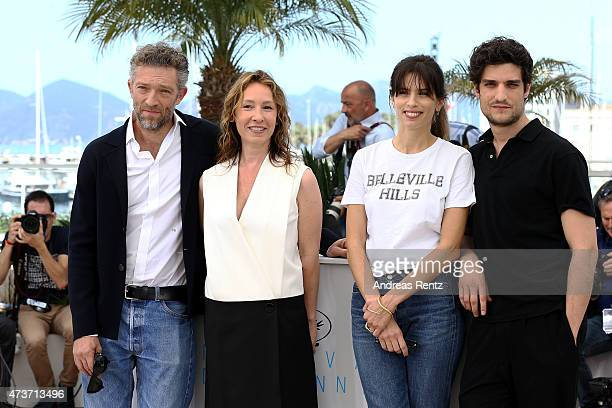 Vincent Cassel Emmanuelle Bercot Maiwenn and Louis Garrel attend a photocall for 'Mon Roi' during the 68th annual Cannes Film Festival on May 17 2015...