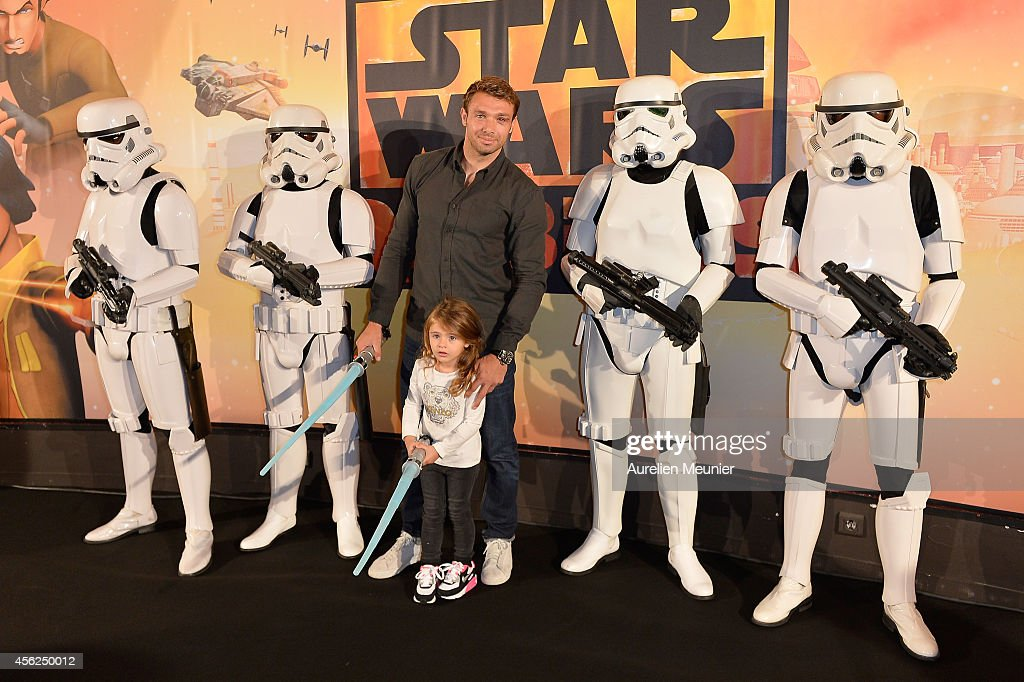 <a gi-track='captionPersonalityLinkClicked' href=/galleries/search?phrase=Vincent+Clerc&family=editorial&specificpeople=235795 ng-click='$event.stopPropagation()'>Vincent Clerc</a> attends the Paris premiere of XD Star Wars Rebels at Gaumont Champs-Elysees on September 28, 2014 in Paris, France.