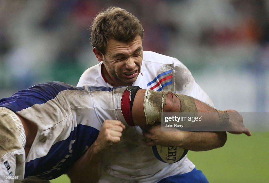 Vincent Clerc of France in action during the Rugby Autumn International between France and Samoa at the Stade de France on November 24, 2012 in Paris, France.
