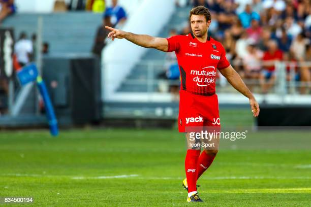 Vincent Clerc of Toulon during the preseason match between Rc Toulon and Lyon OU at Felix Mayol Stadium on August 17 2017 in Toulon France