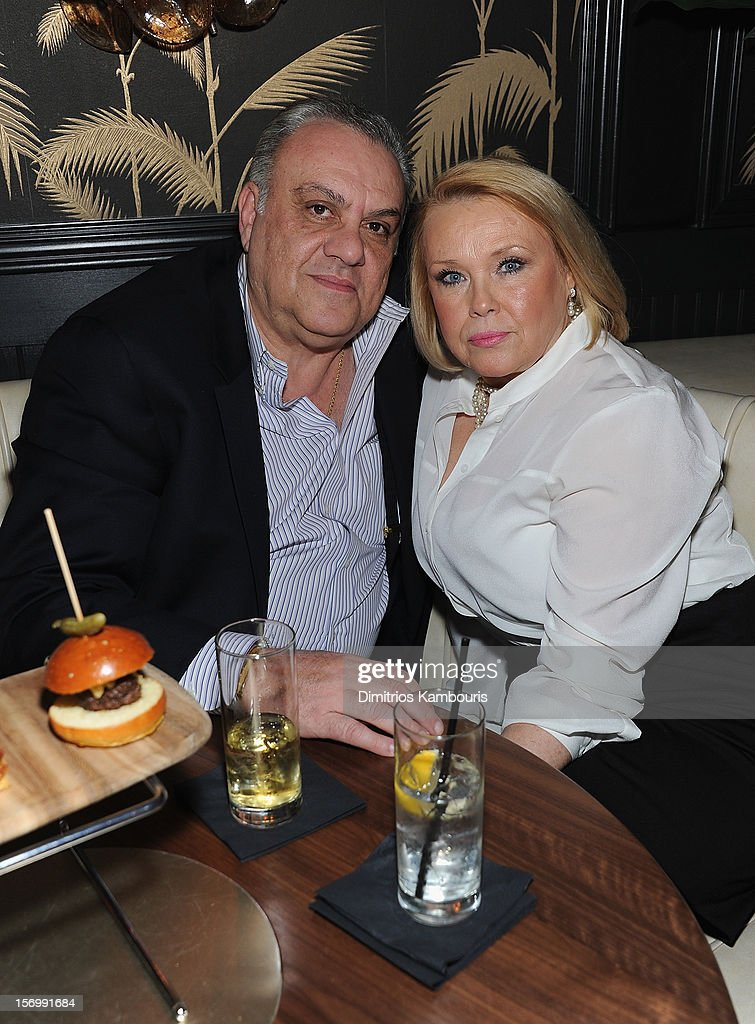 Vincent Curatola and guest attend The Cinema Society With Men's Health And DeLeon Tequila Host A Screening Of The Weinstein Company's 'Killing Them Softly' After Party on November 26, 2012 in New York City.