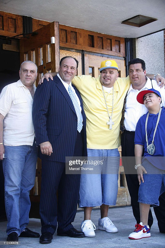 Vincent Curatola, James Gandolfini, Steve Schirripa, and Rapper Fat Joe