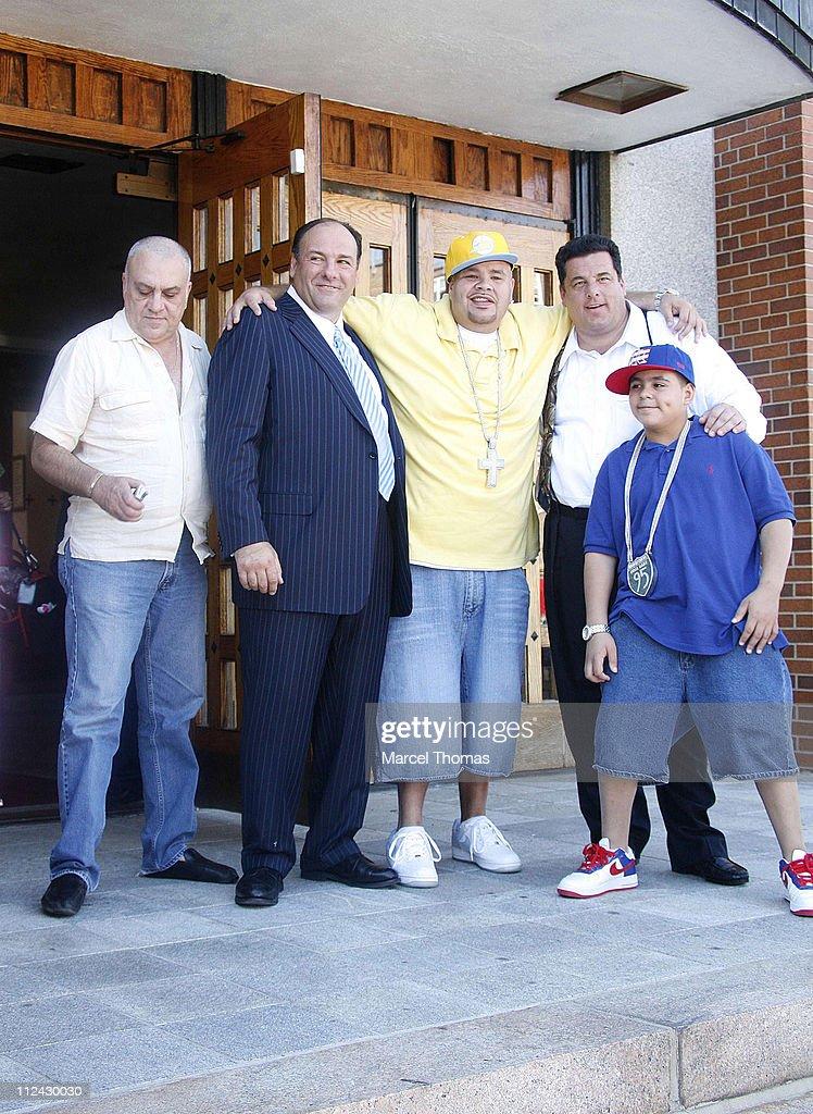 Vincent Curatola,James Gandolfini,Steve Schirripa, and Rapper Fat Joe