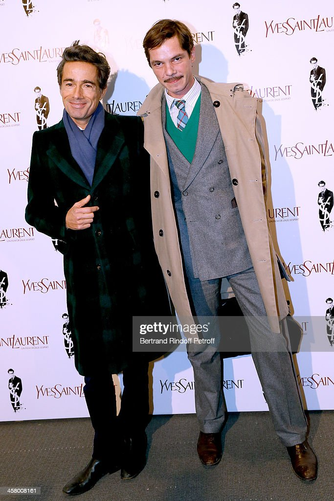 Vincent Dare and Eli Top attend the 'Yves Saint Laurent' Paris movie Premiere at Cinema UGC Normandie on December 19, 2013 in Paris, France.