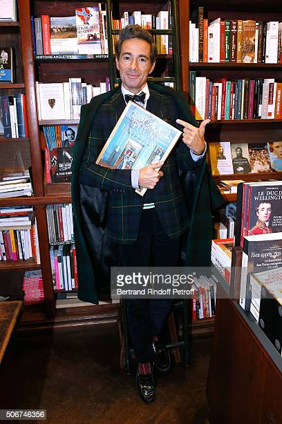 Vincent Darre attends Princess Gloria Von Thurn und Taxis signs her Book 'The House of Thurn und Taxis' Held at Librairie Galignani on January 25...