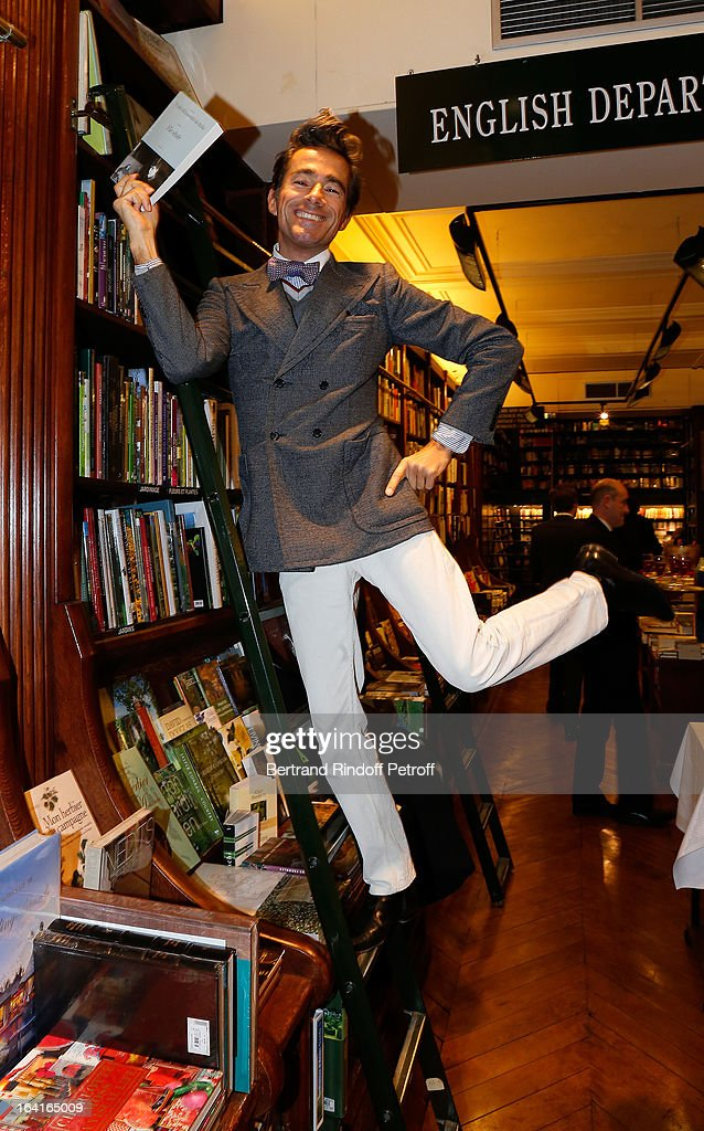 Vincent Darre attends the book signing of 'Dream Life' (Vie Revee) by Thadee Klossowski De Rola at Galignani Bookstore in Paris, France on March 20, 2013.