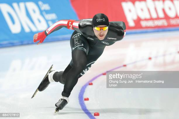 Vincent De Haitre of Canada competes in the Men 1000m during the ISU World Single Distances Speed Skating Championships Gangneung Test Event For...