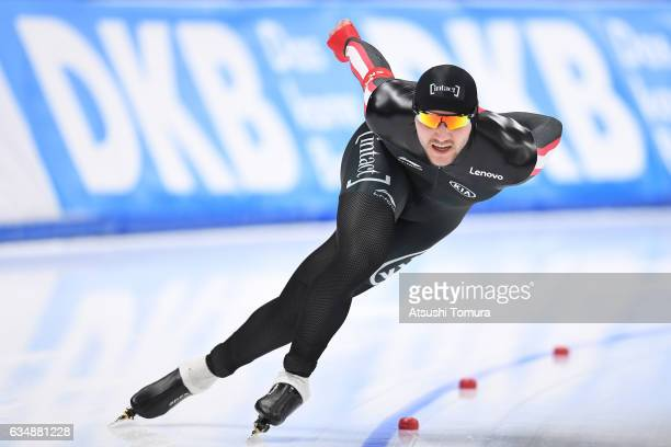Vincent De Haitre of Canada competes in the men 1500m during the ISU World Single Distances Speed Skating Championships Gangneung Test Event For...