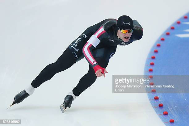Vincent De Haitre of Canada competes in the Men's 1000m during day two of ISU World Cup Speed Skating at Alau Ice Palace on on December 3 2016 in...