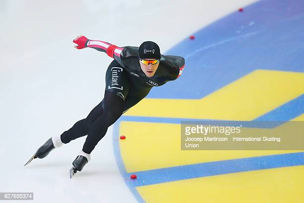 Vincent De Haitre of Canada competes in the Men's 1500m during day three of ISU World Cup Speed Skating at Alau Ice Palace on December 4 2016 in...