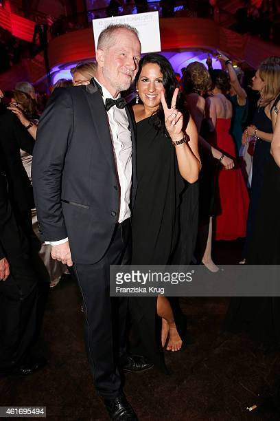 Vincent de la Tour and Minu BaratiFischer attend the German Film Ball 2015 on January 17 2015 in Munich Germany