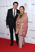 Vincent De Paul and fashion designer Sue Wong arrive at 'Breakfast at Tiffany's' benefiting the HollyRod Foundation for Autism and Parkinson's...