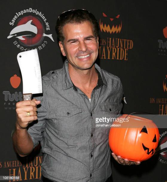 Vincent De Paul arrives for the 2nd Annual Los Angeles Haunted Hayride Premiere Night at Griffith Park on October 10 2010 in Los Angeles California