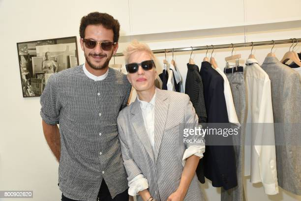 Vincent Dedienne and Singer Jeanne Added attend Agnes B Menswear Spring/Summer 2018 show as part of Paris Fashion Week ton June 25 2017 in Paris...