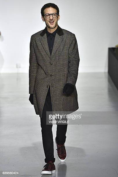 Vincent Dedienne walks the runway during the Agnes B Menswear Fall/Winter 20172018 show as part of Paris Fashion Week on January 22 2017 in Paris...