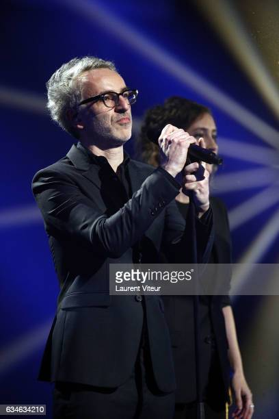 Vincent Delerm performs during 'Les Victoires de la Musiques 2017' at Le Zenith on February 10 2017 in Paris France