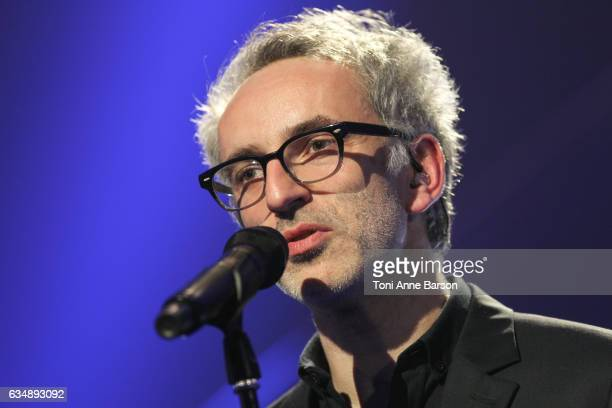 Vincent Delerm performs during the '32nd Victoires de la Musique 2017' at Le Zenith on February 10 2017 in Paris France