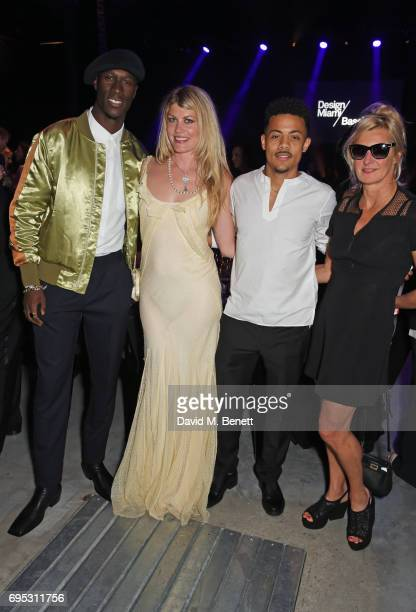 Vincent Dery Meredith Ostrom Nico Sereba and Alison Jackson attend the UNAIDS Gala during Design Miami / Basel 2017 on June 12 2017 in Basel...