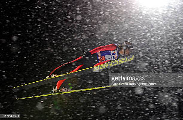 Vincent Descombes Sevoie of France competes during the FIS Ski Jumping World Cup Men's HS142 on November 30 2012 in Kuusamo Finland
