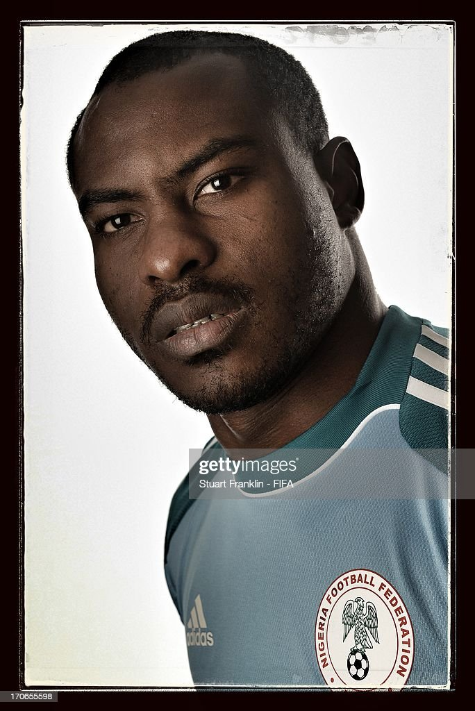 <a gi-track='captionPersonalityLinkClicked' href=/galleries/search?phrase=Vincent+Enyeama&family=editorial&specificpeople=831392 ng-click='$event.stopPropagation()'>Vincent Enyeama</a> of Nigeria poses for a portrait at Cesar business hotel on June 16, 2013 in Belo Horizonte, Brazil.