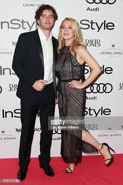 Vincent Fantauzzo and Asher Keddie arrive at the 2015 Women of Style Awards at Carriageworks on May 13 2015 in Sydney Australia