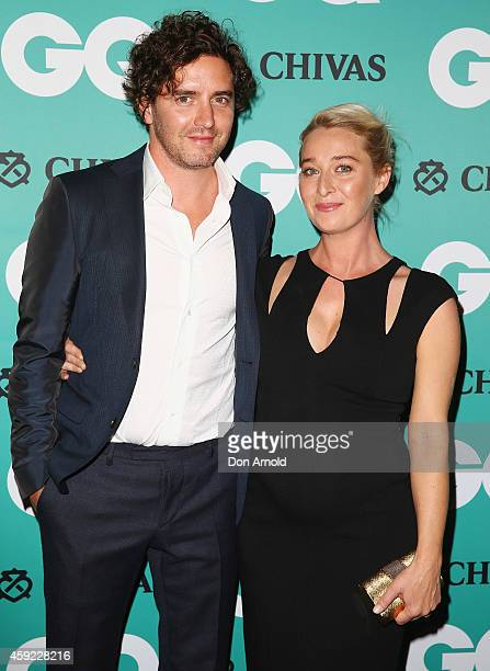 Vincent Fantauzzo and Asher Keddie arrive for the GQ Men Of The Year Awards 2014 at The Ivy on November 19 2014 in Sydney Australia