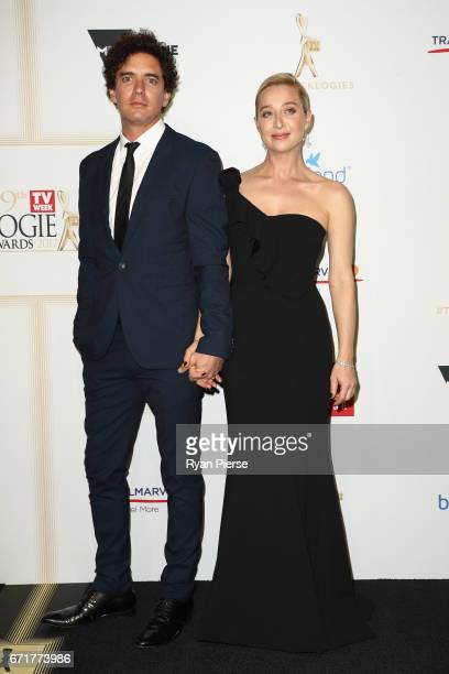 Vincent Fantauzzo and Asher Keddie arrives at the 59th Annual Logie Awards at Crown Palladium on April 23 2017 in Melbourne Australia