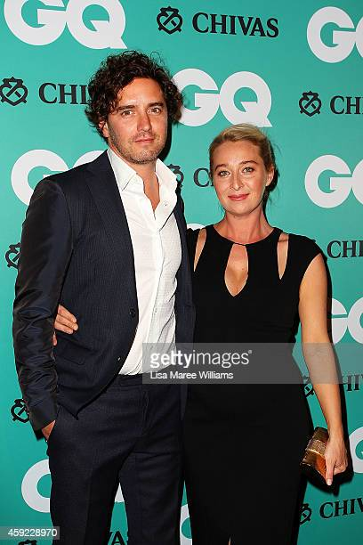 Vincent Fantauzzo and Asher Keddie arrives for the GQ Men Of The Year Awards 2014 at The Ivy on November 19 2014 in Sydney Australia