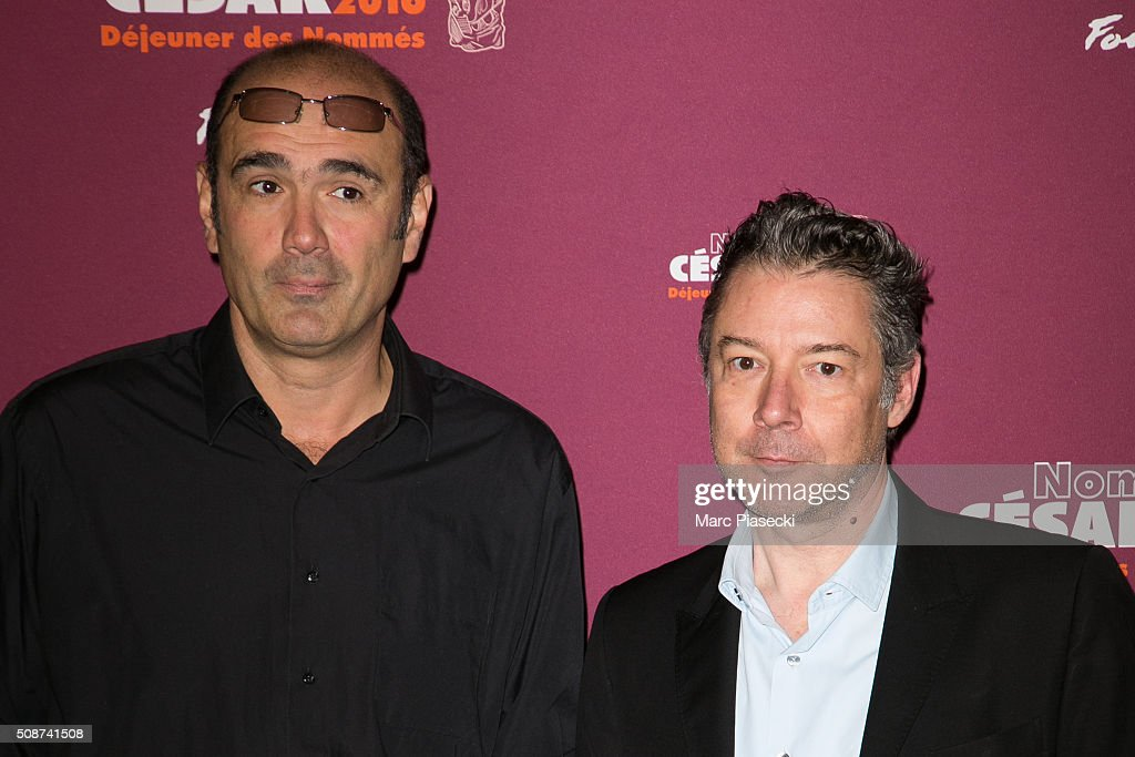 <a gi-track='captionPersonalityLinkClicked' href=/galleries/search?phrase=Vincent+Garenq&family=editorial&specificpeople=5643145 ng-click='$event.stopPropagation()'>Vincent Garenq</a> and Stephane Cabel attend the 'Cesar 2016- Nominee luncheon' at Le Fouquet's on February 6, 2016 in Paris, France.