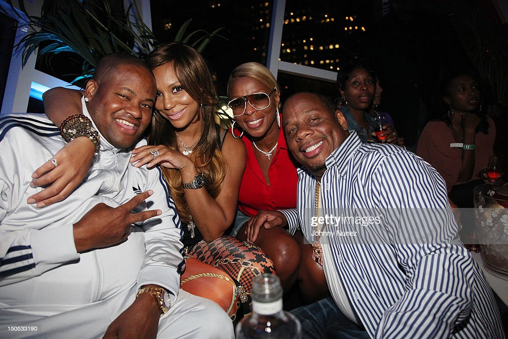 Vincent Herbert, <a gi-track='captionPersonalityLinkClicked' href=/galleries/search?phrase=Tamar+Braxton&family=editorial&specificpeople=2079619 ng-click='$event.stopPropagation()'>Tamar Braxton</a>, Mary J Blige and <a gi-track='captionPersonalityLinkClicked' href=/galleries/search?phrase=Kendu+Isaacs&family=editorial&specificpeople=841121 ng-click='$event.stopPropagation()'>Kendu Isaacs</a> attend Don Pooh's Birthday Party at Copacabana on August 19, 2012 in New York City.