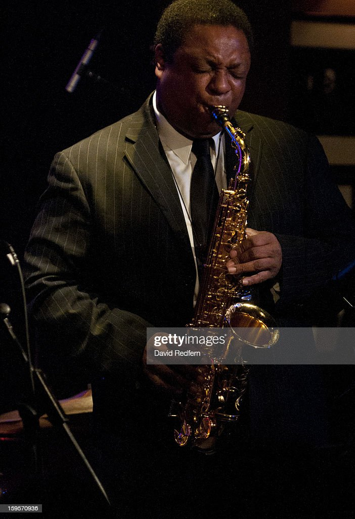 Vincent Herring of Eric Alexander And Vincent Herring Quintet Featuring Harold Mabern In the Spirit of Coltrane perform at Ronnie Scott's Jazz Club on January 15, 2013 in London, United Kingdom.