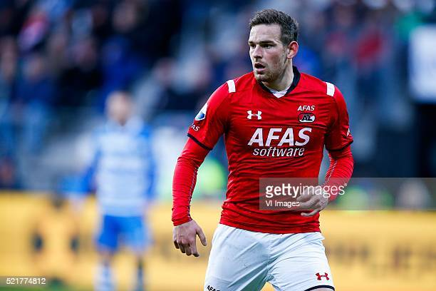 Vincent Janssen of AZ Alkmaar during the Dutch Eredivisie match between AZ and PEC Zwolle at the AFAS stadium on april 16 2016 in Alkmaar the...
