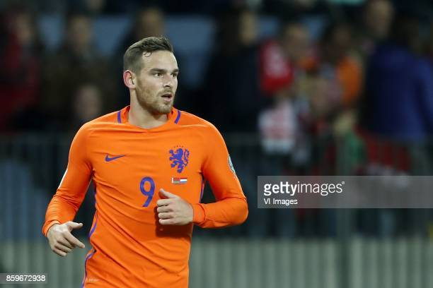 Vincent Janssen of Holland during the FIFA World Cup 2018 qualifying match between Belarus and Netherlands on October 07 2017 at Borisov Arena in...