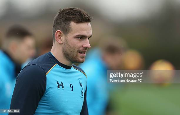 Vincent Janssen of Tottenham during a Tottenham Hotspur Training session at Tottenham Hotspur Training Centre on January 12 2017 in Enfield England