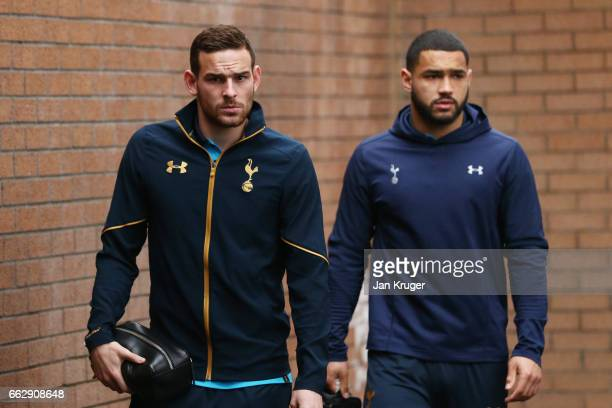 Vincent Janssen of Tottenham Hotspur arrives at the stadium prior to the Premier League match between Burnley and Tottenham Hotspur at Turf Moor on...