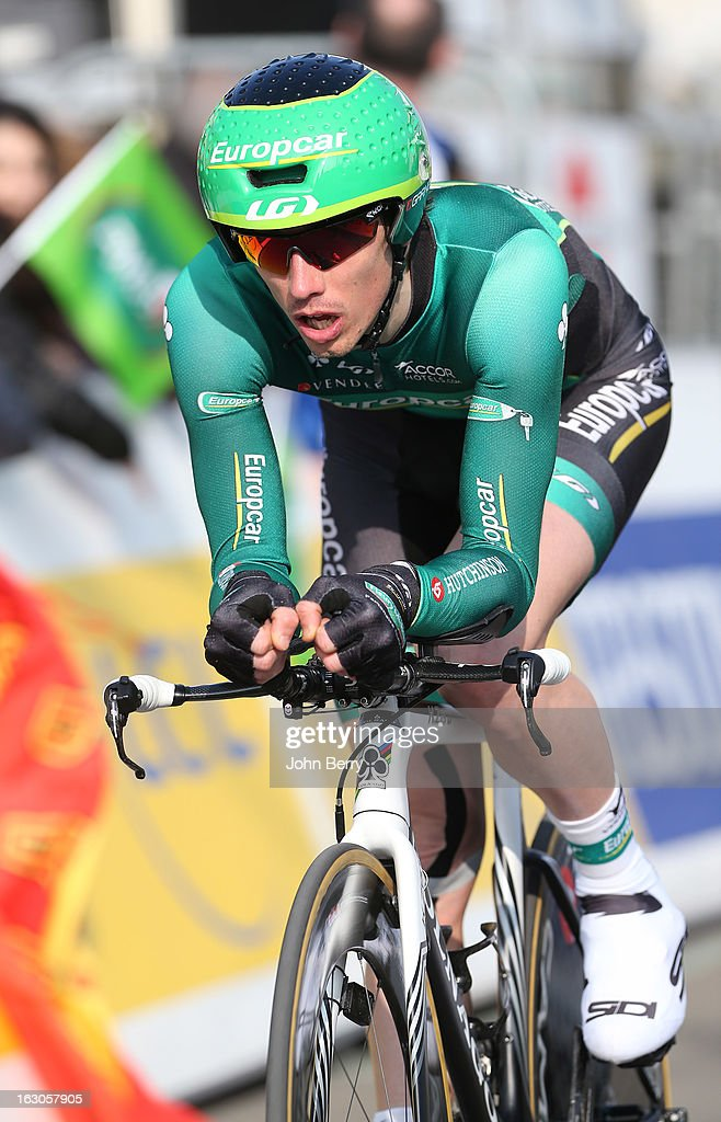 Vincent Jerome of France and Team Europcar rides during the prologue of 2.9 km of the 2013 Paris-Nice on March 3, 2013 in Houilles, Yvelines, France.