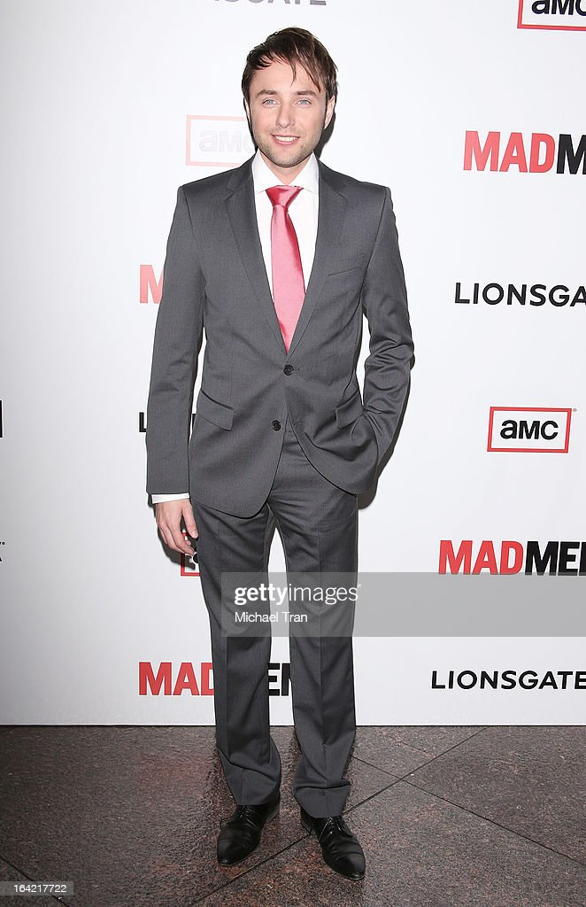 Vincent Kartheiser arrives at AMC's 'Mad Men' season 6 premiere held at DGA Theater on March 20, 2013 in Los Angeles, California.