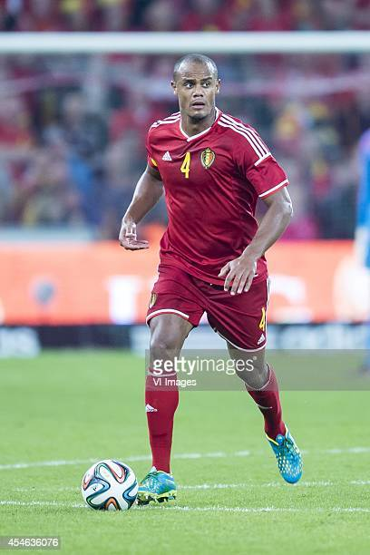 Vincent Kompany of Belgium during the friendly match between Belgium and Australia on September 4 2014 at Stade Maurice Dufrasne in Liege Belgium