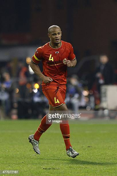 Vincent Kompany of Belgium during the friendly match between Belgium and Ivory Coast at King Boudewyn Stadium on March 5 2013 in Brussels Belgium