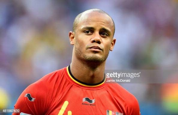 Vincent Kompany of Belgium looks on prior to the 2014 FIFA World Cup Brazil Round of 16 match between Belgium and the United States at Arena Fonte...