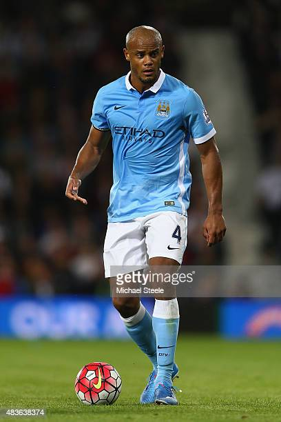 Vincent Kompany of Manchester City during the Barclays Premier League match between West Bromwich Albion and Manchester City at The Hawthorns on...