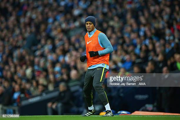 Vincent Kompany of Manchester City during the Premier League match between Manchester City and Middlesbrough at Etihad Stadium on November 5 2016 in...