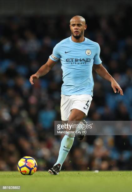 Vincent Kompany of Manchester City in action during the Premier League match between Manchester City and Southampton at Etihad Stadium on November 29...